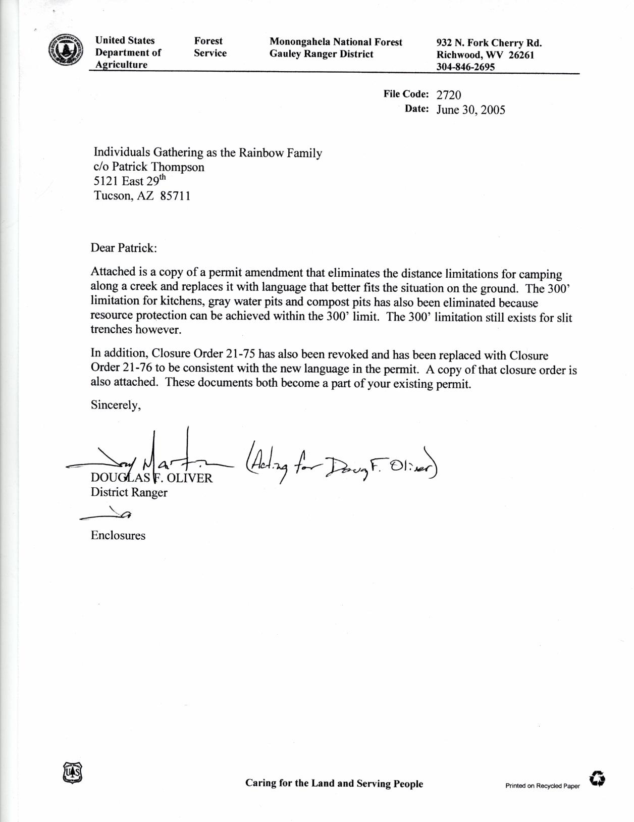 2005 west virginia rainbow gathering permit paperwork amendment 2 june 30 alramifo Images