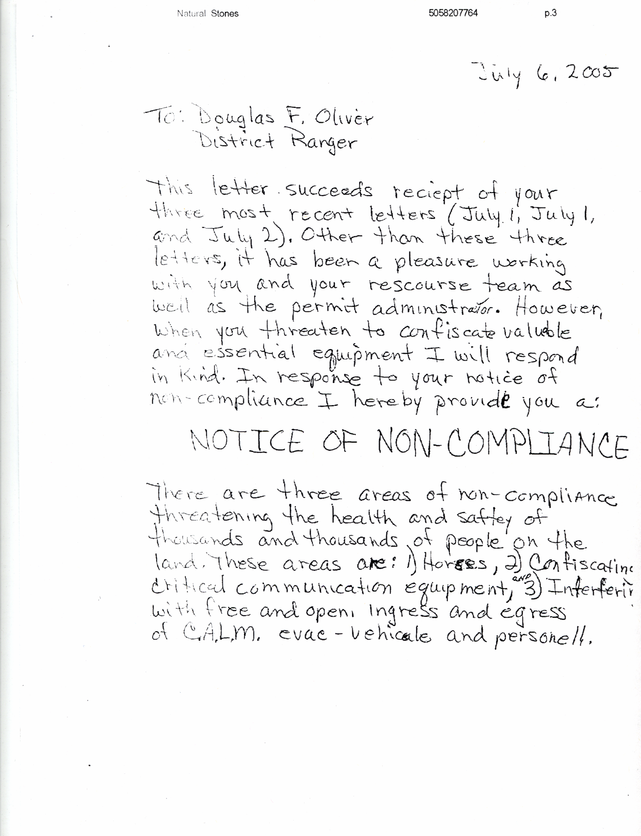 Non Compliance Letter - Letter BestKitchenView CO